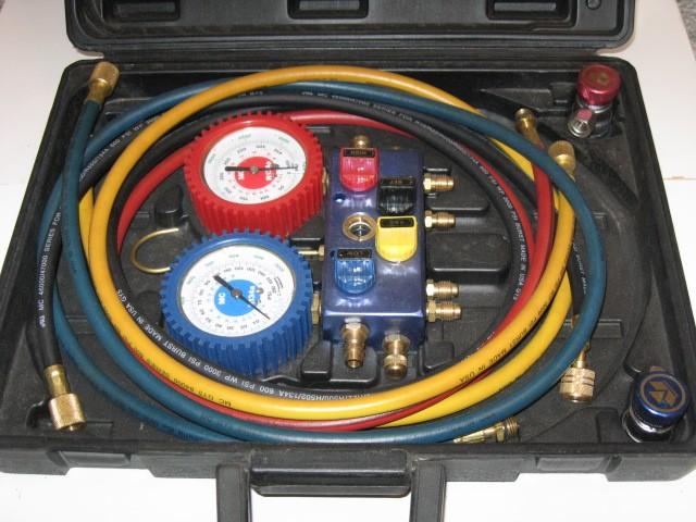 Mastercool 134a 4 way Professional Manifold Set