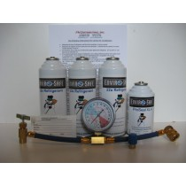 R290 Small Recharge & Seal Kit (Includes 3 cans of R290, 1 Can ProSeal XL, 1 Low Side Gauge W/Hose & Can Tap, & 1 Low Side Adapter)